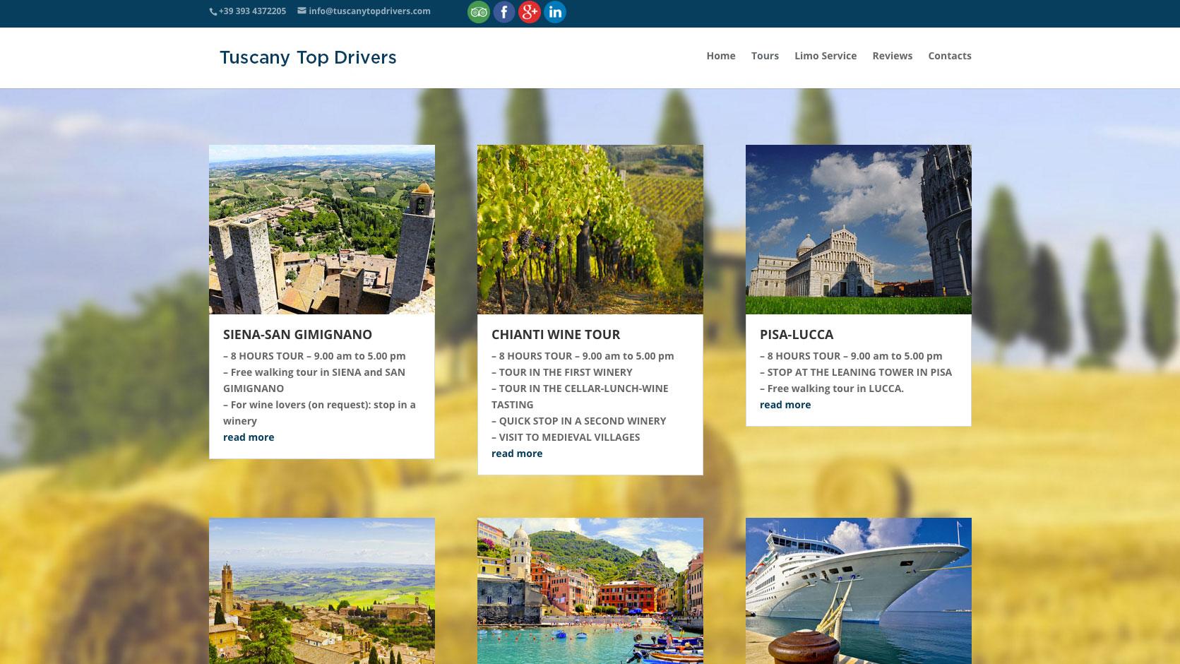 Tuscany Top Drivers Homepage