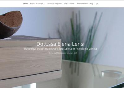 Dott.ssa Elena Lensi | Psicologa e Psicoterapeuta